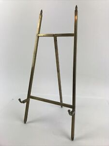 """12"""" Vintage Modern Art Deco Solid Brass Standing Picture Tabletop Art Easel"""
