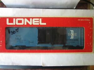 Lionel O Scale 6-9768 Boston & Maine Box Car Road #9768