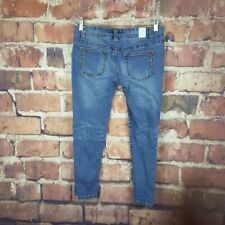 Maurices Cropped Jeans Womens Size 7/8 Juniors Denim Capris Embellished