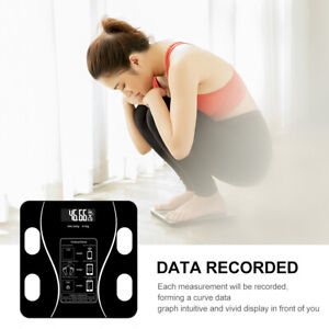 Bluetooth Digital Bathroom Scale LCD Body Fat Weight Muscl Scales 0.1kg-180kg