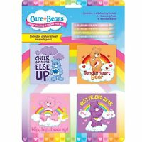 Care Bears Mini Colouring Pad Set Book Pencil Crayons Art and Craft Sticker Girl