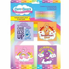 Care bears mini coloriage pad set livre crayons de couleur art and craft autocollant fille