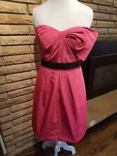 NWT BCBG Max Azria Strapless Pink Dress Size 10 Large L Summer Formal MSRP $268