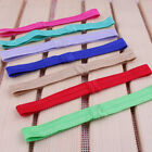 100PCS Handmade Solid Candy Nylon Headbands Artificial Elastic Band For Headband