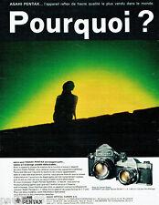 PUBLICITE ADVERTISING 115  1971  ASAHI PENTAX appareil photo SPOTMATIC T. OGAWA