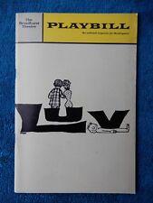 Luv - Broadhurst Theatre Playbill - October 1966 - Barbara Bel Geddes - Wilder