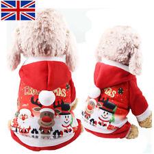 Christmas Dog Costume Red Hoodies Elk Snowman Soft Warm Comfort Pet Supplies UK