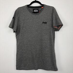 Mens SUPERDRY Casual Grey Short Sleeve T-Shirt Size M - Medium