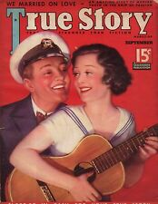 1935 True Story September - Katherine Hepburn; We married on love; Mad jealousy