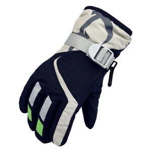 Kids Children Winter Gloves Waterproof Thermal Fleeces Warm Ski Snowboard New