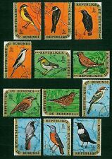 francobolli SERIE COMPLETA 24v Uccelli Burundi timbrati
