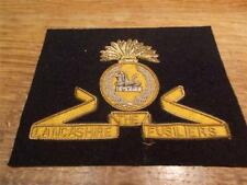 RARE Embroidered British Army Military Blazer Badge LANCASHIRE FUSILIERS EGYPY