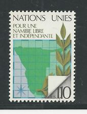 UNITED NATIONS, GENEVA # 86 MNH NAMIBIA MAP AND OLIVE BRANCH