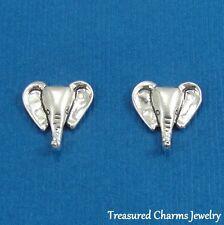 .925 Sterling Silver ELEPHANT EARRINGS Post Stud Zoo Safari *NEW*