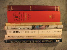 lot old ART BOOKs Through the ages Painting with synthetic media modern theory &