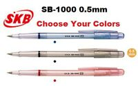 SKB Soft Ink Pens 0.5 mm Black Blue Red CHOOSE YOUR COLORS SB-1000 Green Purple