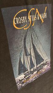 Crosby, Stills & Nash Wooden Ships LONG SLEEVED Concert T Shirt size XL Vintage
