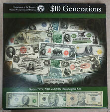 $10 Generations Set with 1995, 2001 and 2009 Philadelphia Set LOW SERIAL NUMBERS
