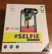 Olloclip Selfie 3-in-1 Photo Lens for iPhone 5/5s, Black/Blue/Green Pendants