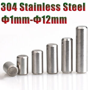 Dowel Pins Cylindrical Pin Φ1-12mm Solid Positioning Pin Roller Stainless Steel