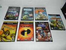 Lot of 7 Disney Kids Children Nintendo Gamecube Games COMPLETE CIB Tested Lots