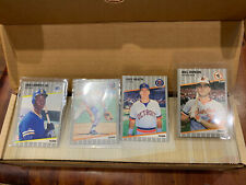 1989 Fleer Complete Set With Errors And Stickers! Griffey Rc Rookie!
