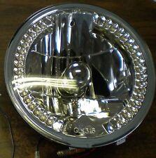 WHITE LED HALO 7 IN ROUND HEADLIGHT FREIGHTLINER CENTURY KENWORTH T2000 31379