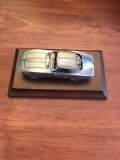 1984 Avon Pewter Car 1963 Chevrolet Corvette w/Wood Display Base