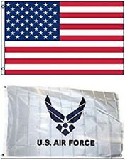 3' X 5' 3x5 Air Force White Wings Flag + USA American Flag Flags WHOLESALE LOT