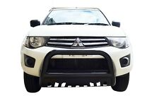 Black Bullbar Nudge Bar Grille Skid Guard for Mitsubishi Triton 06-14 MN ML
