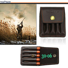 Tourbon Rifle Ammo Holder Bullets Cartridges Pouch for Belt Vintage Real Leather