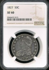 1827 Capped Bust Half Dollar NGC XF 40 *Sharp Details!*