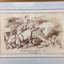 National Spring Meeting 1874. The Final Heat Monogram E.M.B. 1874 Pen Brown Ink