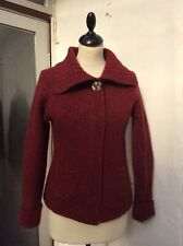 FISHERMAN OUT OF IRELAND Women's Pure Wool Cardigan Size S/ 8-10