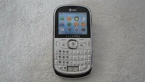 A T & T Alcatel Non Working Display Model Cell Phone Telephone Dummy Phone