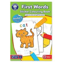 Orchard Toys CB04 First Words Colouring Sticker Activity Book Kids Children 4yr+