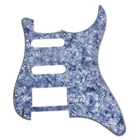 Gray Pearl Electric Guitar Pickguard For Fender Strat SSH 3-ply 11 hole