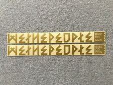 """NEW 2 x We The People BMX Frame Stickers 10.5"""" Gold & Clear Sticker Decals WTP"""