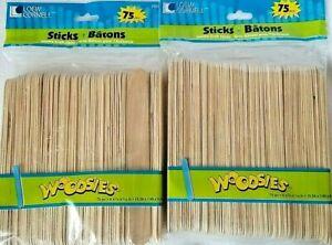 "Popsicle Sticks Jumbo Craft Sticks 75 Count 6""x 3/4"" 2 Pkg. 150 Pieces, NEW"