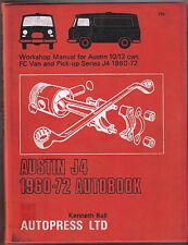 Austin J4 10/12 cwt FC Van & Pick-up 1960-72 Autobook Workshop Manual 1972