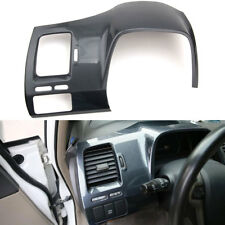 Carbon Fiber ABS Driver Side Dashboard Cover Trim For Honda Civic 8th 2006-2011