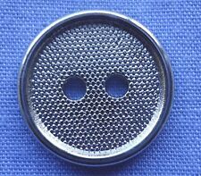 13mm Silver 2 Hole Button (x 2 buttons)