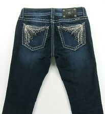 Miss Me STRAIGHT  Stretch women's jeans Embellished Stud Pockets size 28 / 35
