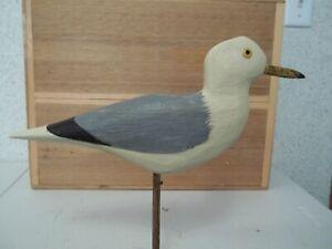 Hand Carved Gunning Style Seagull Confidence Shorebird Decoy