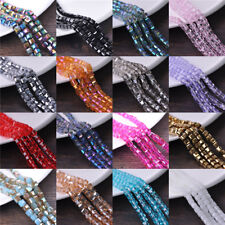 20pcs 8mm Cube Square Faceted Crystal Glass Loose Spacer Beads Jewelry Findings