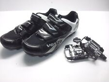Venzo Mountain Bike Bicycle Cycling Shimano SPD Shoes + Multi-Use Pedals 45