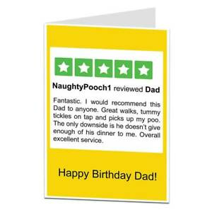 Funny Birthday Card From The Dog For Men Husband Boyfriend