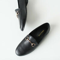 New Women's Horsebit Detailed Princetown Synthetic Leather Classic Loafers
