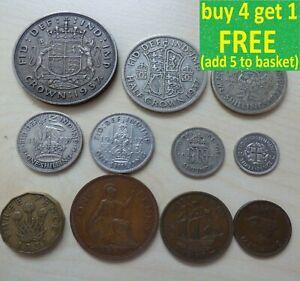 George V or VI or Elizabeth II Pre-Decimal Coin Sets Collection Choose Yours