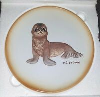 "RIVER SHORE LIMITED EDITION PLATE ROGER J. BROWN'S ""AKIKU"" THE SEAL PUP 1979"